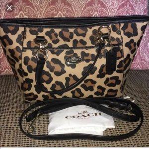 Small/ medium coach cheetah bag new with tags